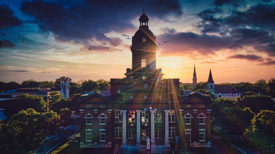 Coweta County Courthouse at Sunset